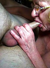 Hot tow-headed granny sucking lucky guys Hawkshaw