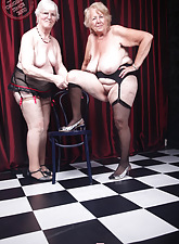 One lesbians aged granny posing be incumbent on videotape